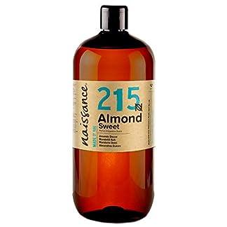 Naissance Aceite de Almendras Dulces n. º 215-1 Litro – 100% natural para humectar y equilibrar la piel, hidratar el cabello y todo el cuerpo.