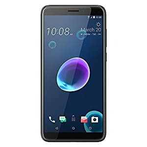 HTC Desire 12 Dual SIM 3 GB RAM UK SIM Free Smartphone - Cool Black [Amazon Exclusive]