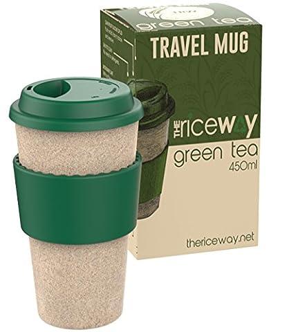 The Rice WAY Reisebecher * 450ml umweltfreundlicher eco Travel Mug aus Reishülsen, Coffee To-Go öko kaffeebecher aus organischen, wiederverwendbaren Naturmaterialien