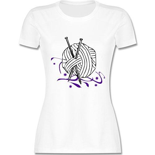 Statement Shirts - Stricken - tailliertes Premium T-Shirt mit Rundhalsausschnitt für Damen Weiß