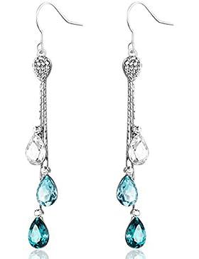 Neoglory Jewellery Ohrringe damen silber hängend mit Swarovski® Elements Kristall