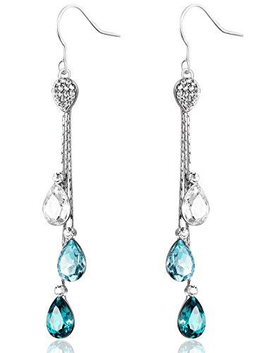 Partner Kostüme Gute (Neoglory Jewellery mit Swarovski Elements Ohrringe mit Kristall hängend)