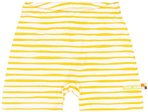 loud + proud Unisex Baby Short mit Druck, aus Bio Baumwolle, GOTS zertiziziert, Gelb (Honey Hon), 92 (Herstellergröße: 86/92)