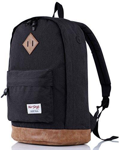 HotStyle 936Plus Daypack Rucksack (26 Liters) mit 15.6 Zoll Laptopfach, Schwarz