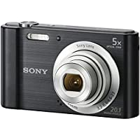سوني 20.1 ميجابيكسل كاميرا ديجيتال - اسود (DSC-W800) مع 8 جيجابايت ميموري كارد (SF-8N4) مع حقيبة كاميرا (LCS-BDE)