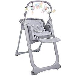 Chicco - Chaise Haute Bébé Polly Magic Relax - 4 Roues - Evolutive - Graphite