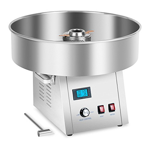 Royal Catering RCZK-1500S-W Machine a Barbe a Papa Professionnelle (Ø 62 cm, 1500 W, 4 kg/h, Acier Inoxydable)