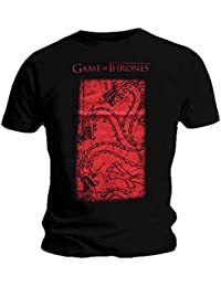 Game of Thrones Official T Shirt Huge Targaryen House Red All Sizes