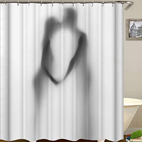 BAIF 3D Digital Printing Pattern Duschvorhang Wasserdichtes Mildewproof Polyester-Gewebe mit Haken Home und Hotel Duschvorhang Phantom der Oper Phantom02 - Phantom Oper-zubehör Der