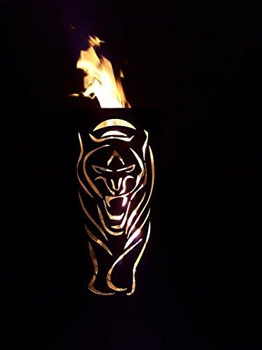 Tiko-Metalldesign Feuerkorb/Feuertonne mit Tiger Motiv