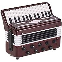 Muslady Modello di Fisarmonica Mini Squisita Decorazione di Strumenti Musicali Desktop Ornamenti Regalo Musicale con Scatola Delicata