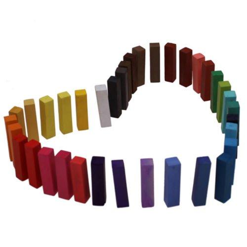 Easy Hair Chalk Dye Temporary Non-toxic Pastels Salon 36 Colors Kit