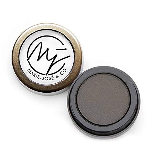 Poudre à Sourcils | 6 Couleurs | Maquillage semi-permanent pour les Sourcils (Noir (Doux))