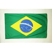 BANDERA de BRASIL 150x90cm - BANDERA BRASILEÑA 90 x 150 cm poliéster ligero ...