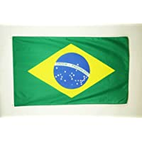 BANDERA de BRASIL 150x90cm - BANDERA BRASILEÑA 90 x 150 cm poliéster ligero - AZ FLAG