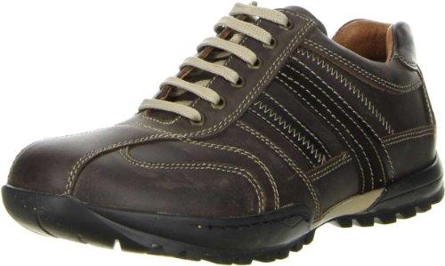 KLONDIKE Herren Halbschuhe Leder braun, Größe:42, Farbe:Braun