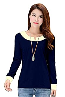 23777f1f4ef6 Buy Now · Stylistico Polo Full Sleeve with Border Cut Top for Girls  (Dark-Blue, Large