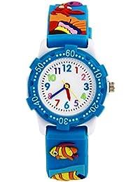 Arroyo Waterproof 3D Cute Cartoon Digital Silicone Wristwatches Time Teacher Gift For Little Girls Boys Kids Children...