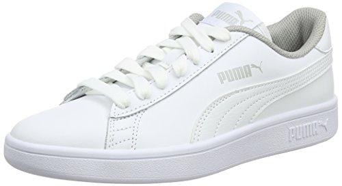Puma Smash V2 L Jr, Scarpe da Ginnastica Basse Unisex – Bambini, Bianco White, 38 EU