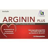 Preisvergleich für Avitale Arginin plus Tabletten mit rein pflanzlichem Arginin, Vitamin B1, B6, B12 und Folsäure, 1er Pack (1 x...