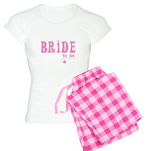 CafePress-Bride to Be pink-Damen Neuheit Baumwolle Pyjama Set, bequemen PJ Nachtwäsche Gr. Small, with Pink Pant -