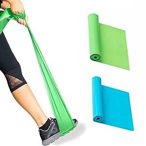 DD Naturlatex Elastische Übungs Bänder, Yoga Körperliche Therapie Fitness Stretch Festigkeits Trainings Freie Widerstands Bänder
