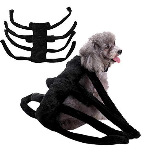 Etophigh Haustier-Halloween-Kostüm-Cosplay-Spinnen-Kleidung, Haustier-Spinnen-Geschirr-Kostüm für kleine-mittlere Hunde