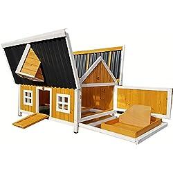 Grande Cocoon Poulailler avec Interne sécurisé aires de nidification volaille Ark Nichoir NEUF-avec toit ouvrant pour un nettoyage facile-Plateau amovible-Eco toits de plastique