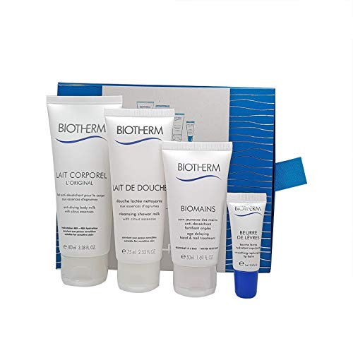 Biotherm Lait Corporal L´Original 100 mL Body Lotion 75mL Duschgel 50 mL Handcreme 5 mL Lippenbalsam