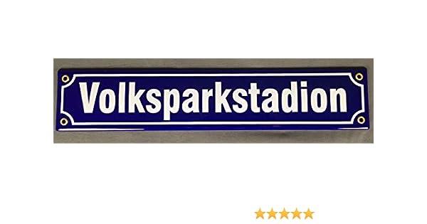 gewölbt /& Motiv geprägt Grillecke Blechschild 46 x 10 cm Straßennamenschild