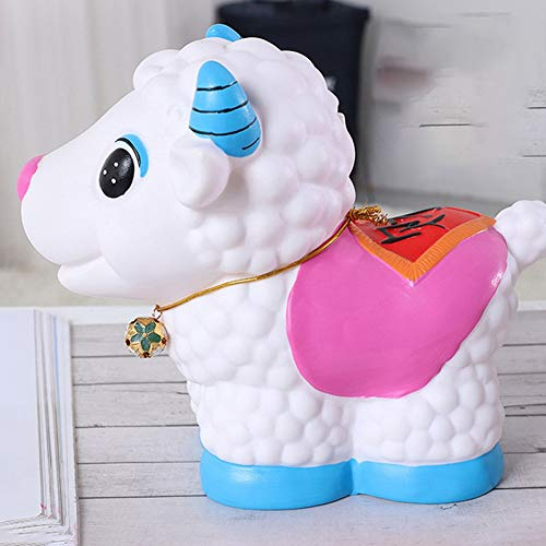 (MENGJF Children Cartoon Large Size Piggy Bank Cute Style (Farbe : Blau))