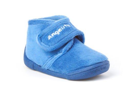 Zapatillas de estar por Casa para Niños y Niñas mod.130. Calzado Infantil Made in Spain, Garantia de Calidad. (23, Azul)
