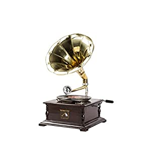 Gramophone With Brass Trumpet His Master's Voice Playback Square