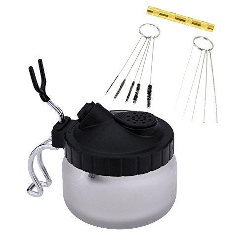 Gocheer Professionell 4 Set Airbrush Reinigungsset,mit 5 Reinigungsbürsten, 5 Reinigungsnadeln, Reamer,Airbrush Cleaning Pot