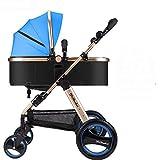 Aoligei Baby Kinderwagen Kann Sitzt mit Vier Runden von Schock und klappbare Neugeborenes Baby Kinderwagen Trolley