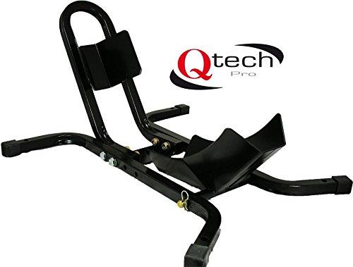 Qtech Motorrad Bike Standschiene 17-21Zoll Räder Hebebock Klemmständer universelle Passform strapazierfähig mit Bodenverankerungsbolzen