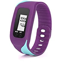 Reloje Hombre Mujer,Xinan Podómetro Digital Reloj del Deporte Contador de Calorias Pulsera (Púrpura)