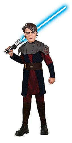 Wars Clone Wars Anakin Skywalker Clonewars Starwars Kostüm Gr. 128 - 140 (Anakin Skywalker Kostüm)
