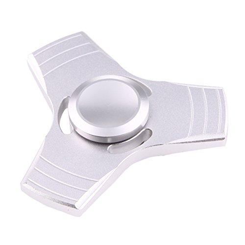 Preisvergleich Produktbild Fidget Spinner Silber Metall Handspinner mit Keramik Kugellager Anti Stress EDC von wortek