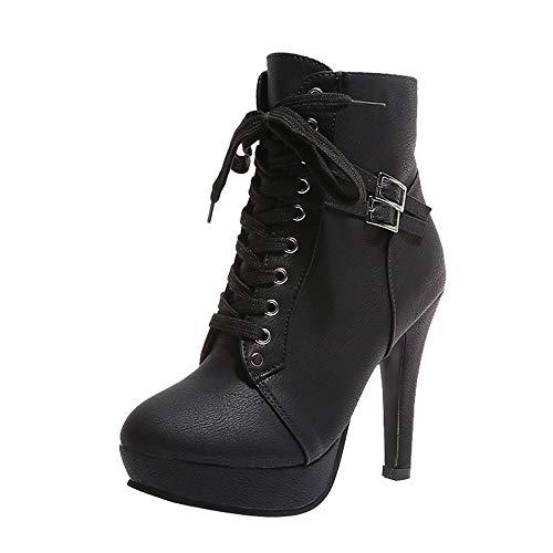 Botas para mujer negras con tacón