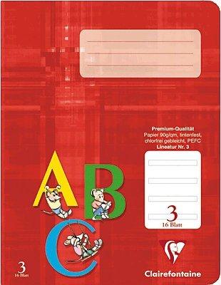 Preisvergleich Produktbild DAS PREMIUM SCHULHEFT Clairefontaine Schreibheft A4 ( Lineatur 3 ) a 16 Blatt  / Im 3er Pack  3x Schreibheft  a 16 Blatt.