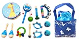 13PCS Baby-Kind-Holz-Sound-Hit Musikinstrumente Spielwaren -Geschenk Spiele (Blau)