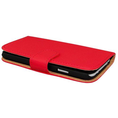 Avcibase Buchstil Flip PU Ledertasche für Apple iPhone 6 gelb Rot