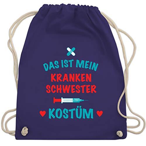 Und Schwarz Lila Narr Kinder Kostüm - Karneval & Fasching - Das ist mein Krankenschwester Kostüm - Unisize - Lila - WM110 - Turnbeutel & Gym Bag