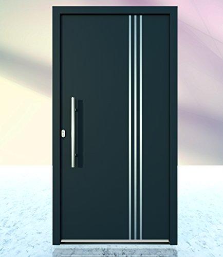 Haustür Welthaus WH75 Standardtür Aluminium mit Kunststoff LA 10 Tür (1080x2080 DIN links)