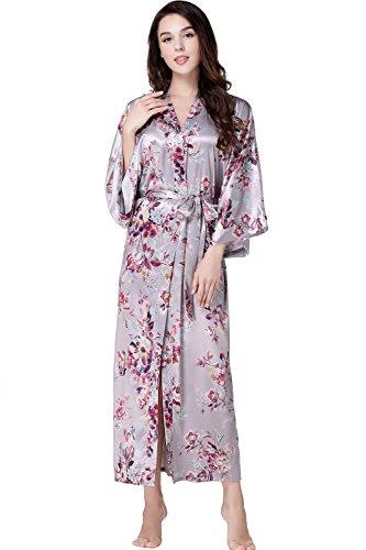 ArtiDeco Kimono Floral Largo Bata Novia Kimono Seda