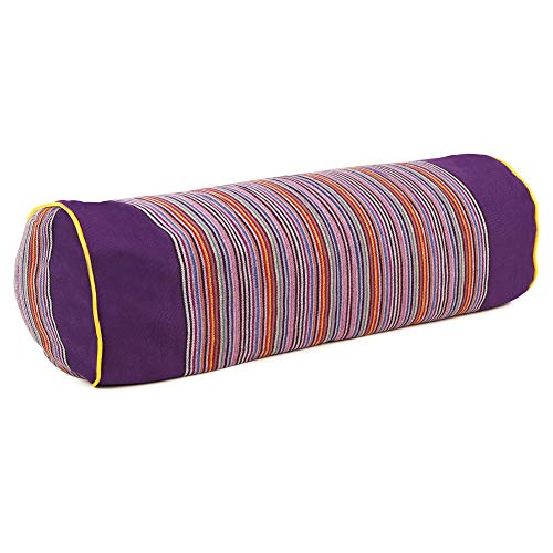 SAPURA Coussin de Yoga Long en Coton pour la Nuque et la méditation, Coussin Lavable, Lilas, 50 x 18 cm