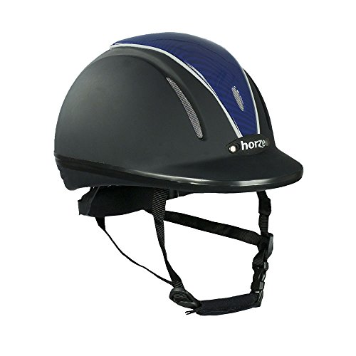 Horze Pacific Reithelm verstellbarer Helm VG1 Defenze, schwarz/blau, S/M