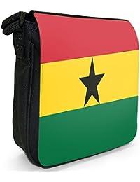 Ghana Flag Small Black Canvas Shoulder Bag / Handbag