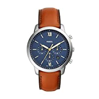 Fossil Mens Quartz Watch, Analog Display and Leather Strap FS5453